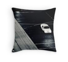 Speedy line work Throw Pillow