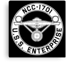USS Enterprise Logo - Star Trek - NCC-1701 (TOS) Canvas Print