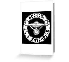 USS Enterprise Logo - Star Trek - NCC-1701 (TOS) Greeting Card