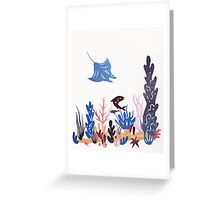 Coral Reef with Ray Papercut Greeting Card