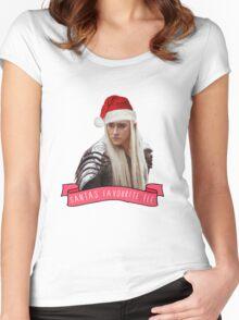 Santa's Favourite Elf - Thranduil Women's Fitted Scoop T-Shirt