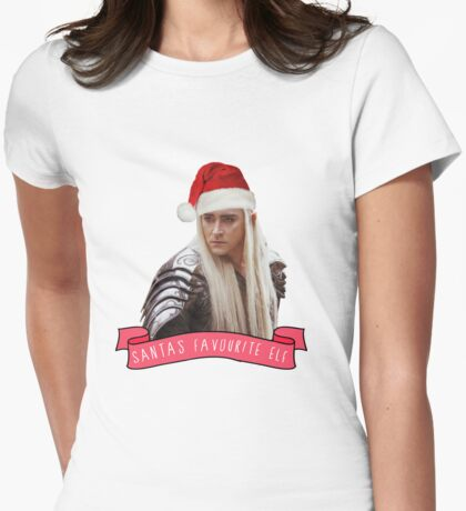 Santa's Favourite Elf - Thranduil Womens Fitted T-Shirt