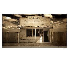 Kelly's old butcher shop, Whitton, NSW Photographic Print