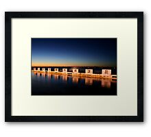 Diving Blocks at Dawn Framed Print