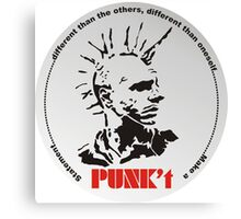 Punk't (with background) Canvas Print