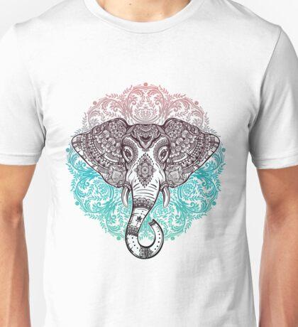 Vintage ornate mandala elephant with tribal ornaments. Unisex T-Shirt