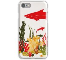 Coral Reef With Shark and Dolphin Papercut iPhone Case/Skin