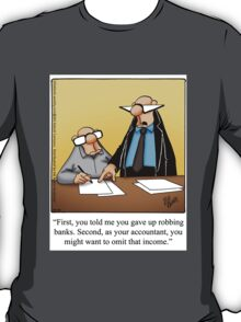 "Funny ""Spectickles"" Accounting Cartoon T-Shirt"
