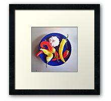 Summer plate #1 Framed Print