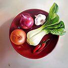 Summer plate #2 by Elena Kolotusha