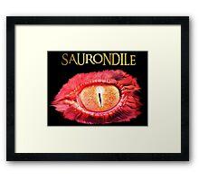 Saurondile Framed Print