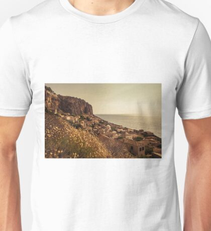 The Rock of Monemvasia in southern Greece Unisex T-Shirt