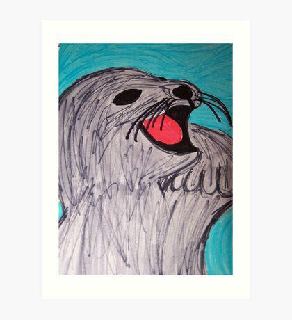 Save The Cute Seals Art Print