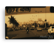 Mumbai by Cab Canvas Print