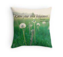 Happiness Jane Austen Throw Pillow