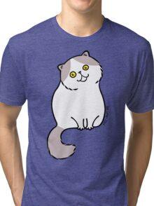 Exotic Shirt Hair Cat ... gray and white Tri-blend T-Shirt