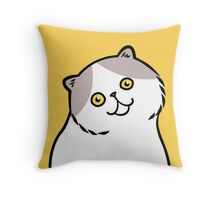 Exotic Shirt Hair Cat ... gray and white Throw Pillow