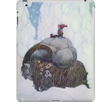 Jullbocken The Yule Goat Being Ridden By A Child iPad Case/Skin