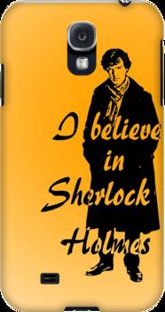 I believe in sherlock Holmes - orange by ibx93