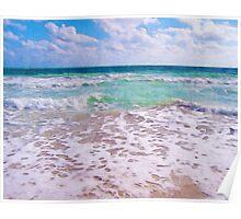 Atlantic Ocean On Florida Beach Poster