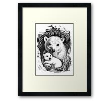 Polar bear family Framed Print