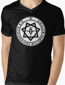 Aleister Crowley Seal - Occult - Thelema Mens V-Neck T-Shirt