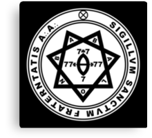 Aleister Crowley Seal - Occult - Thelema Canvas Print