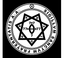 Aleister Crowley Seal - Occult - Thelema Photographic Print