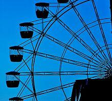 Blue Ferris Wheel by Yip Huang