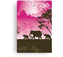 Indian elephants Canvas Print