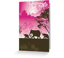Indian elephants Greeting Card