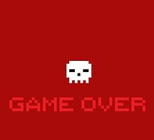 Game Over Skull by crazyhair1996