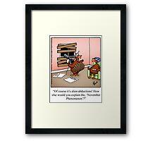 "Funny ""Spectickles"" Thanksgiving Paranoia Cartoon Framed Print"