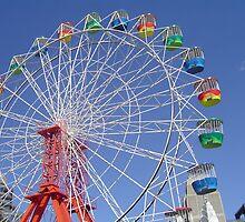 Colourful ferris wheel by judy