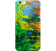 Idea modern abstract painting Yellow Green Blue iPhone Case/Skin
