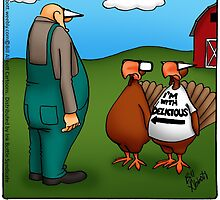 "Funny ""Spectickles"" Thanksgiving Turkey Cartoon by abbottoons"