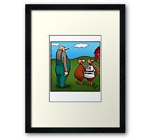 """Funny """"Spectickles"""" Thanksgiving Turkey Cartoon Framed Print"""