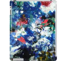 Contemporary River Abstract Landscape Painting in Blue and White iPad Case/Skin