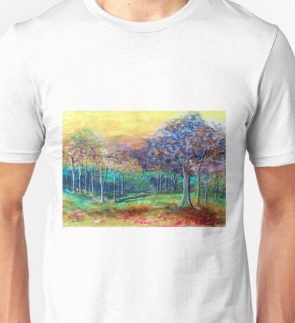Waterpaint trees Unisex T-Shirt