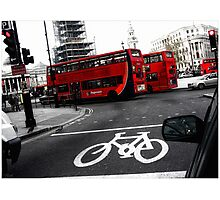 LONDON TRAFFIC Photographic Print