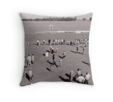 48th Picnic Race Meeting, Warri Racecourse, Ardlethan Throw Pillow