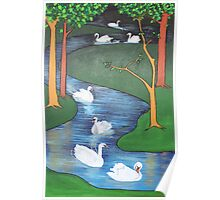 A Flock of Seven Swans-A-Swimming ..... Poster