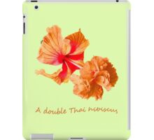 A double Thai hibiscus iPad Case/Skin