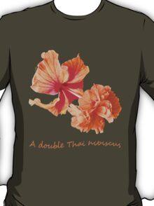 A double Thai hibiscus T-Shirt