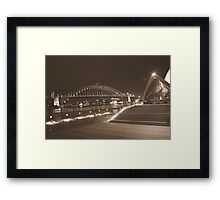 Two icons of Sydney Framed Print