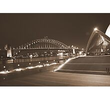 Two icons of Sydney Photographic Print