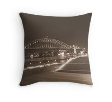 Two icons of Sydney Throw Pillow