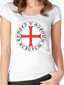 Knights Templar 12th Century Seal - Holy Grail - templars - crusades - V2 Women's Fitted Scoop T-Shirt