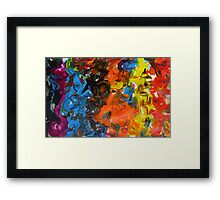 Parade contemporary abstract festival multicolour painting Framed Print