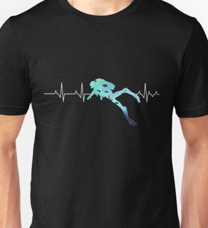Scuba Diving Heart Beat - Best Gift for Diver Unisex T-Shirt